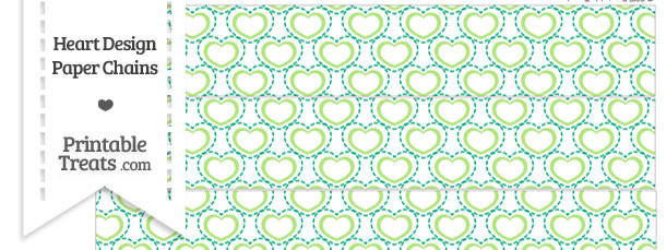 Green Heart Design Paper Chains