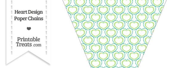 Green Heart Design Pennant Banner Flag