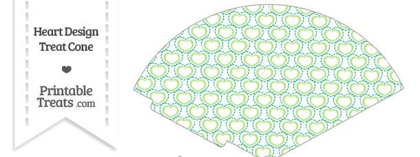 Green Heart Design Treat Cone