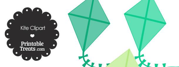 Green Kite Clipart