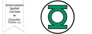 Green Lantern Symbol Cut Out