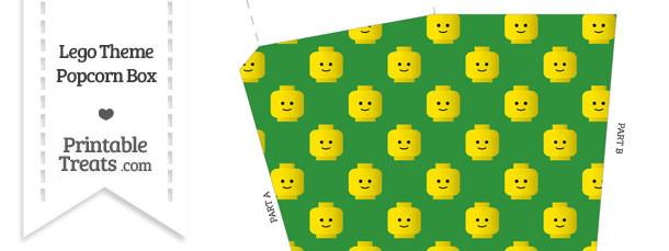 Green Lego Theme Popcorn Box
