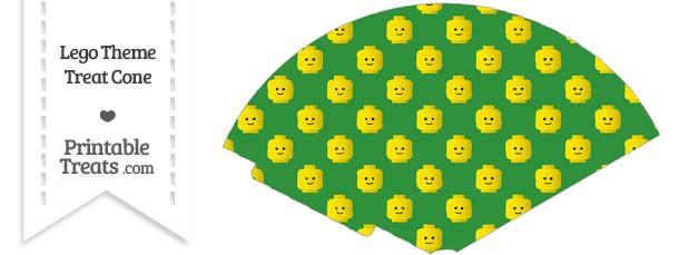 Green Lego Theme Treat Cone