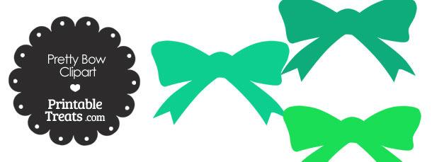 Green Pretty Bow Clipart