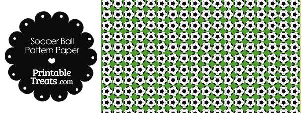 Green Soccer Ball Pattern Digital Scrapbook Paper