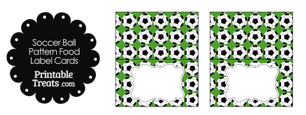 Green Soccer Ball Pattern Food Labels