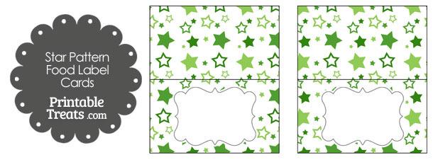 Green Star Pattern Food Labels