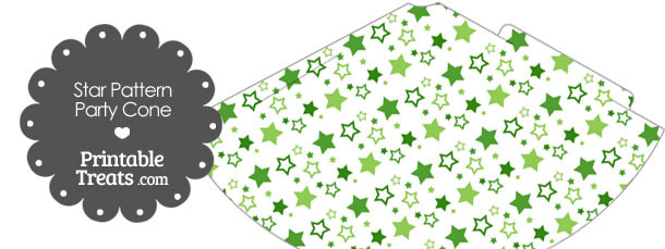 Green Star Pattern Party Cone