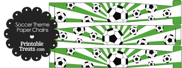 Green Sunburst Soccer Paper Chains