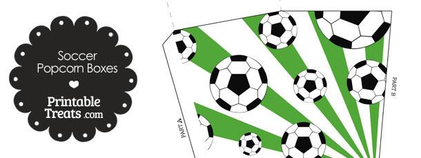 Green Sunburst Soccer Popcorn Boxes
