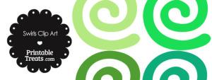Green Swirls Clipart