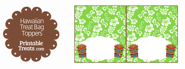 free-green-tiki-mask-treat-bag-topper-printable