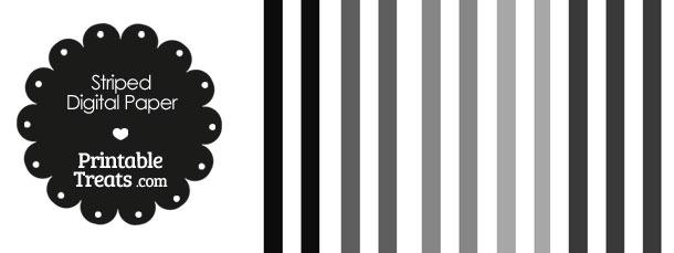 Grey and White Vertical Striped Digital Scrapbook Paper