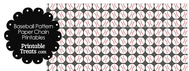 Grey Baseball Pattern Paper Chains