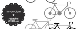 Grey Bicycle Clipart