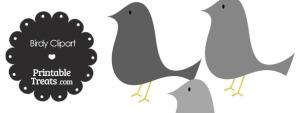 Grey Birdy Clipart