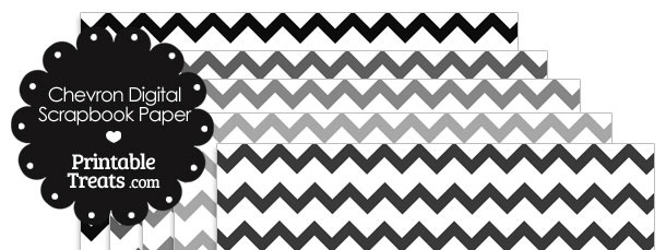 Grey Chevron Digital Scrapbook Paper