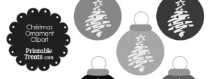 Grey Christmas Tree Christmas Ornament Clipart