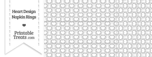 Grey Heart Design Napkin Rings
