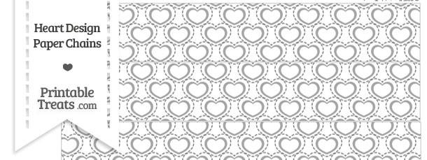Grey Heart Design Paper Chains