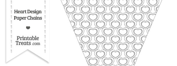 Grey Heart Design Pennant Banner Flag