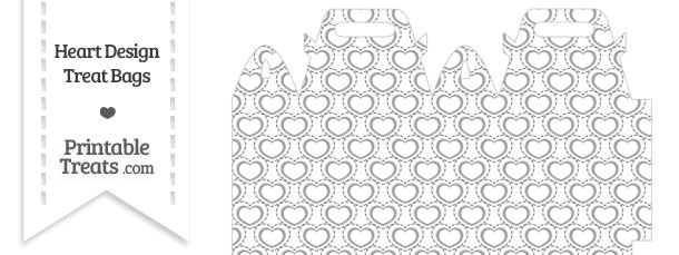 Grey Heart Design Treat Bag