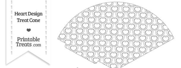 Grey Heart Design Treat Cone