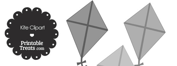 Grey Kite Clipart