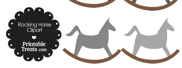 Grey Rocking Horse Clipart