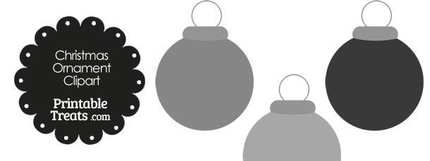 Grey Round Ornament Clipart