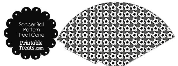 Grey Soccer Ball Pattern Treat Cone