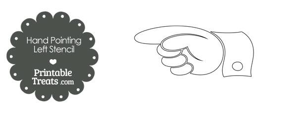 Hand Pointing Left Stencil
