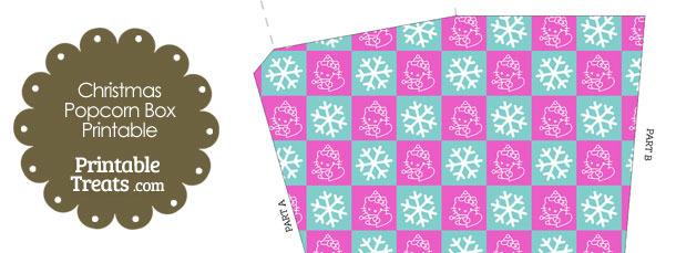 Hello Kitty Christmas Checkered Popcorn Box
