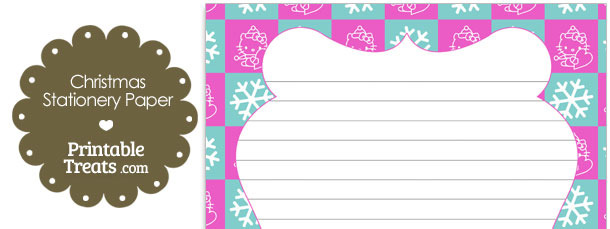 Hello Kitty Christmas Checkered Stationery Paper