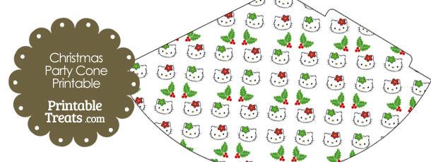 Hello Kitty Christmas Holly Party Cone