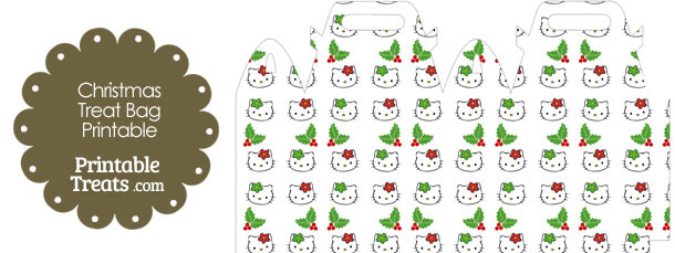Hello Kitty Christmas Holly Treat Bag