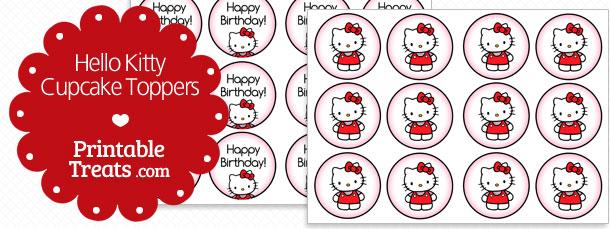 free-hello-kitty-cupcake-topper-printable