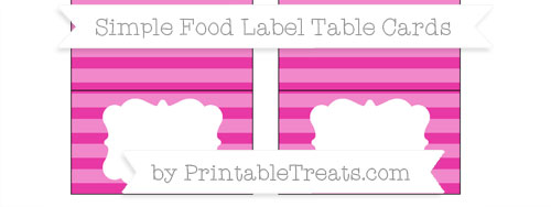 Free Hot Pink Horizontal Striped Simple Food Labels ...