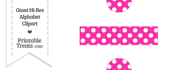 Hot Pink Polka Dot Division Symbol Clipart