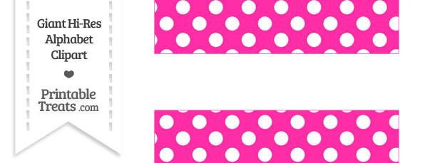 Hot Pink Polka Dot Equal Sign Clipart
