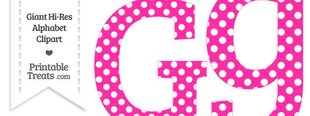 Hot Pink Polka Dot Letter G Clipart