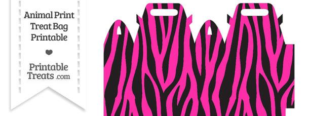 Hot Pink Zebra Print Treat Bag
