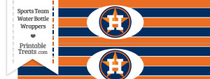 Houston Astros Water Bottle Wrappers