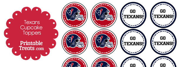 Houston Texans Cupcake Toppers