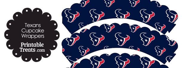 Houston Texans Logo Scalloped Cupcake Wrappers