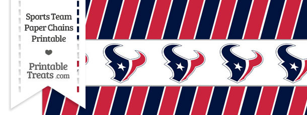 Houston Texans Paper Chains