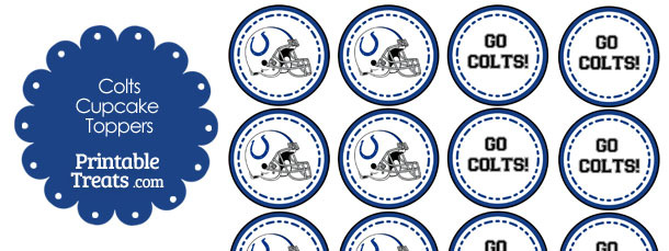 Indianapolis Colts Cupcake Toppers