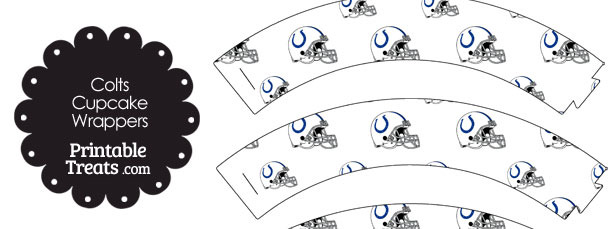 Indianapolis Colts Football Helmet Cupcake Wrappers