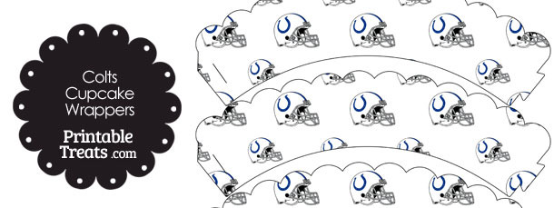 Indianapolis Colts Football Helmet Scalloped Cupcake Wrappers