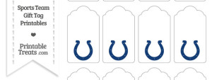 Indianapolis Colts Gift Tags